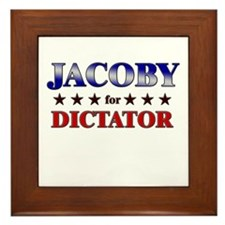 JACOBY for dictator Framed Tile