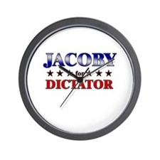 JACOBY for dictator Wall Clock