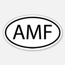 AMF Oval Decal
