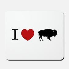 I LOVE BUFFALO Mousepad