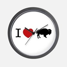 I LOVE BUFFALO Wall Clock