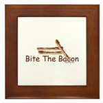 Bite The Bacon Framed Tile