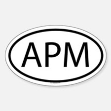 APM Oval Decal
