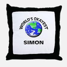 World's Okayest Simon Throw Pillow