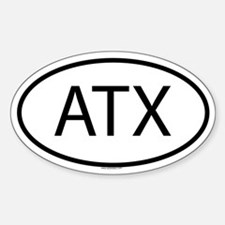 ATX Oval Bumper Stickers
