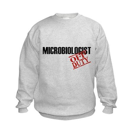 Off Duty Microbiologist Kids Sweatshirt