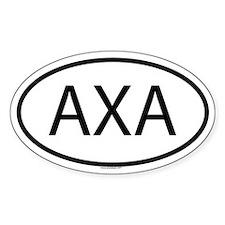 AXA Oval Decal