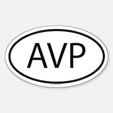 AVP Oval Decal