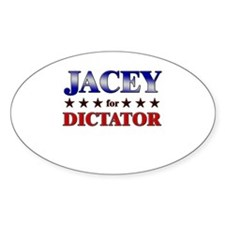 JACEY for dictator Oval Decal