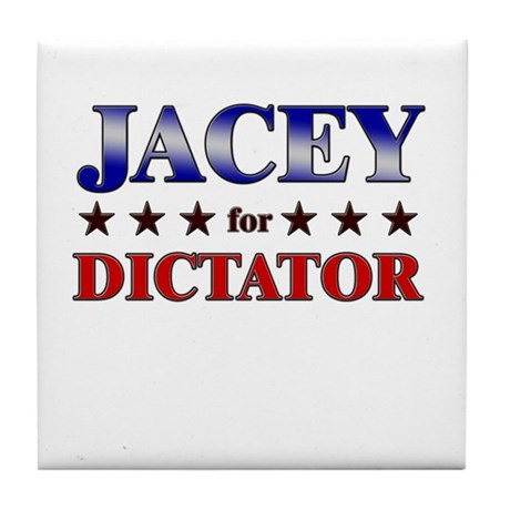 JACEY for dictator Tile Coaster
