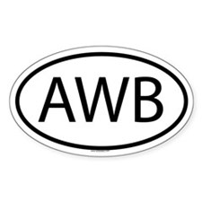 AWB Oval Decal