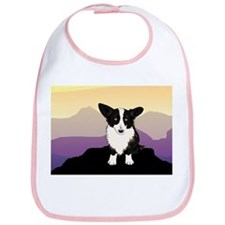 Purple Mountain Corgi Bib