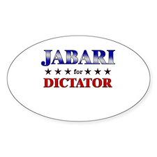 JABARI for dictator Oval Decal