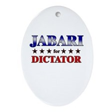 JABARI for dictator Oval Ornament