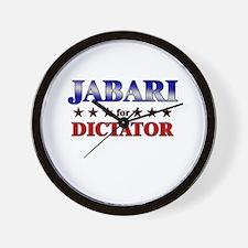 JABARI for dictator Wall Clock