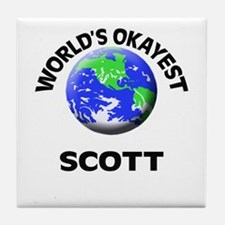 World's Okayest Scott Tile Coaster
