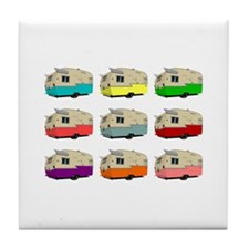Cute Vintage trailer Tile Coaster