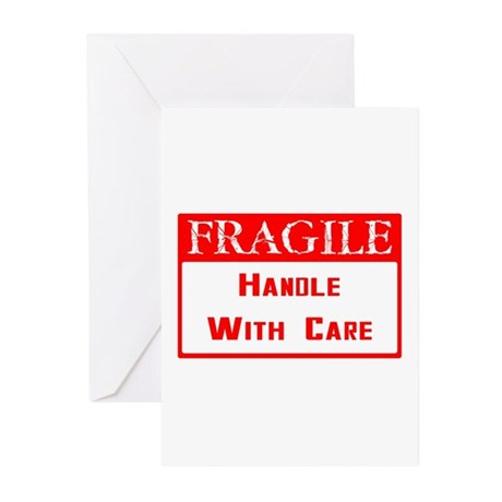 Fragile ~ Handle with Care Greeting Cards (Pk of 2