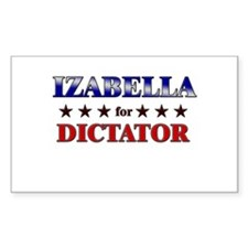 IZABELLA for dictator Rectangle Decal