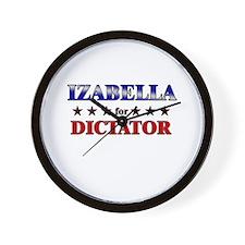 IZABELLA for dictator Wall Clock
