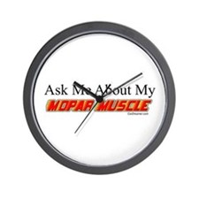 """""""Ask Me About My Mopar"""" Wall Clock"""