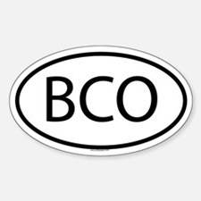 BCO Oval Decal