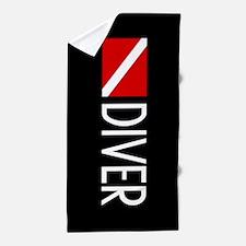 Diving: Diving Flag & Diver Beach Towel