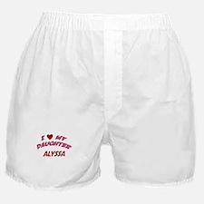 I Love My Daughter Alyssa Boxer Shorts