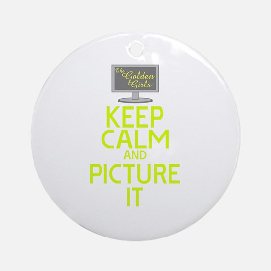 Keep Calm and Picture It Round Ornament