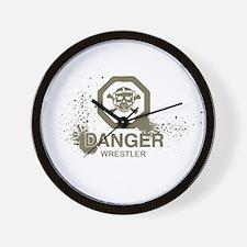 Danger Wrestler Wall Clock