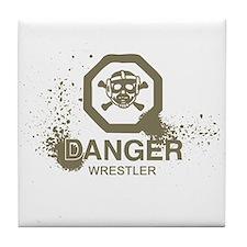 Danger Wrestler Tile Coaster