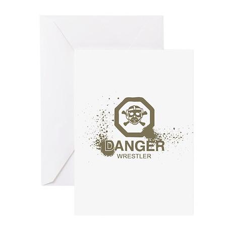 Danger Wrestler Greeting Cards (Pk of 10)