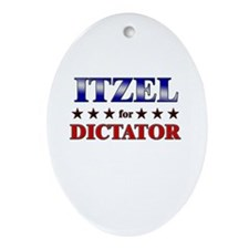ITZEL for dictator Oval Ornament