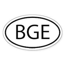 BGE Oval Decal
