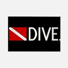 Diving: Diving Flag & Dive. Rectangle Magnet