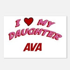 I Love My Daughter Ava Postcards (Package of 8)