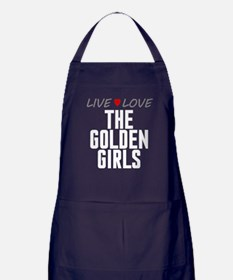 Live Love The Golden Girls Dark Apron