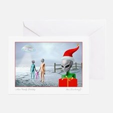 Alien Family 'Out of This World' ~ Greeting Card