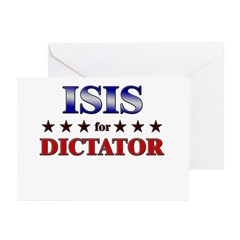 ISIS for dictator Greeting Cards (Pk of 10)