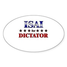 ISAI for dictator Oval Decal