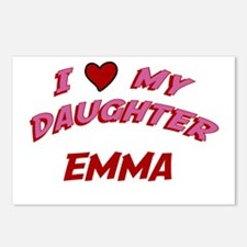 I Love My Daughter Emma Postcards (Package of 8)