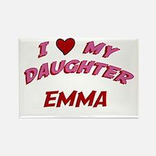 I Love My Daughter Emma Rectangle Magnet