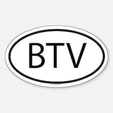 BTV Oval Decal