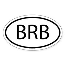 BRB Oval Decal