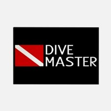 Diving: Diving Flag & Dive Master Rectangle Magnet