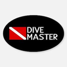 Diving: Diving Flag & Dive Master Sticker (Oval)