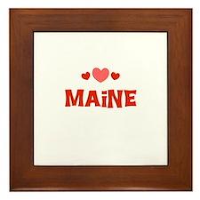 Maine Framed Tile