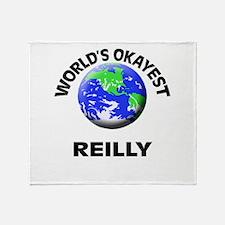 World's Okayest Reilly Throw Blanket