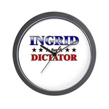 INGRID for dictator Wall Clock