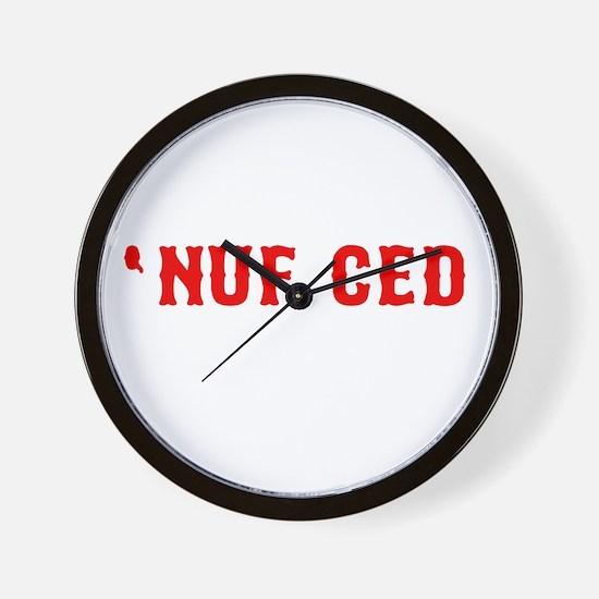 NUF CED Wall Clock
